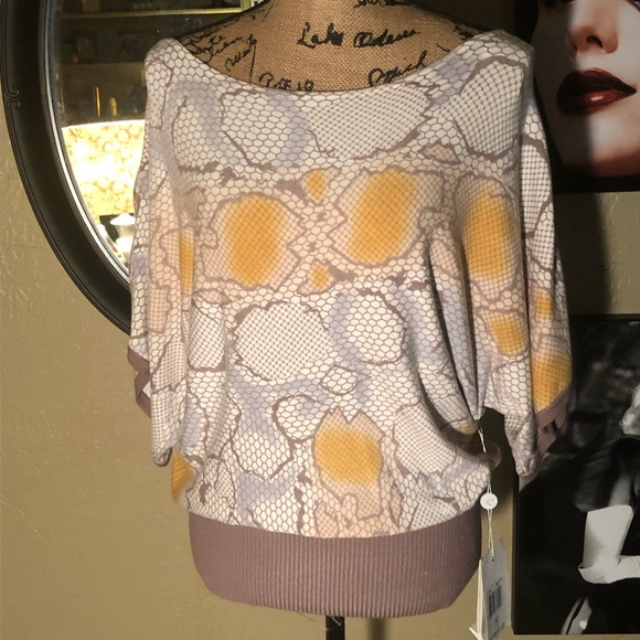 evolution by cyrus Tops - NWT- evolution by cyrus Snake Print